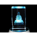 Crystal Square Theme: Buddha Color: Clear