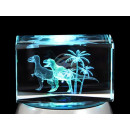 Crystal Square Theme: Dinosaur, palm color: clear