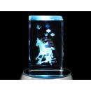 groothandel Figuren & beelden: Crystal Cube horse & vlinders