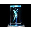 groothandel Figuren & beelden:Crystal Cube Golfsport