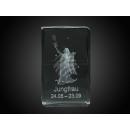 Glas Kristall Quader 3D Laser Gravur Sternzeichen