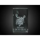 Kristall Quader Glas Kristallquader Skorpion
