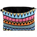 Kosmetik Tasche mit Motiv Aztekenmuster
