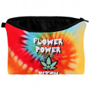 Kosmetik Tasche mit Motiv Flower Power Bitch