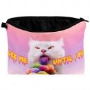 Bolso cosmético con motivo de gato