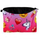 Cosmetic bag Unicorn & Emoticon multicolor