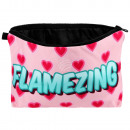 Cosmetic bag Flamezing pink turquoise