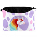 wholesale Bags & Travel accessories: Cosmetic bag Unicorn & dots purple pink