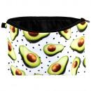 Cosmetic bag avocado marrone verde