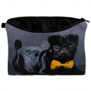 Cosmetic bag Mops with fly black yellow