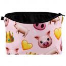 mayorista Articulos de viaje: bolsa de cosméticos cerdo y coronas de color ...