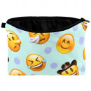 Cosmetic Bag Emoticons yellow blue brown