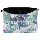 Cosmetics Bags Flowers I'm not perfect .... Wh