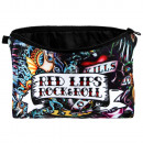 wholesale Bags & Travel accessories: Cosmetic Bag Red lips Rock & Roll multicolor