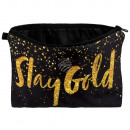 wholesale Bags & Travel accessories: Cosmetics bag  GlitterStay Gold gold