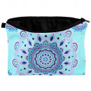 Cosmetic bag Mandala blue light blue purple