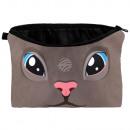 groothandel Portemonnee's: Make-up tas Cat zwart, roze, blauw
