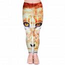 Ladies motif leggings Design: Leo Color: brown