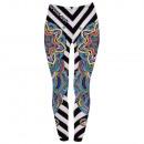 Ladies motif leggings stripes, mandala multicolor