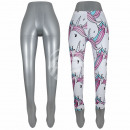 Sales aid for leggings silver approx. 113 cm
