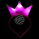 LED Leuchthaarreifen Kone Krone pink