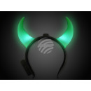 LED light hairband green