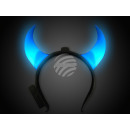 LED light-hair tire blue motif: long Teufelshorn