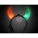 LED Leuchthaarreifen 2 farbig rot grün