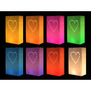Light bags Different colors motif big heart