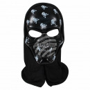 Carnival mask black skull about 25 cm