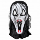 Carnival mask white vampire about 29 cm