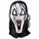 Karnevalsmaske weiss Vampir ca. 29 cm