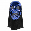 Karnevalsmaske blau Horror