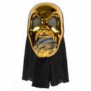 Karnevalsmaske gold Horror
