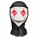Carnival mask white black red harlequin