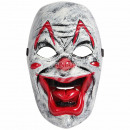 Carnival mask white clown approx. 23 cm