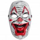 Karnevalsmaske weiss Clown ca. 23 cm