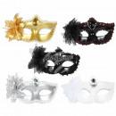 Karnevalsmaske sortiert Venezianische Augenmaske