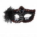 Carnival mask black Venetian eye mask
