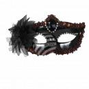 Karnevalsmaske schwarz Venezianische Augenmaske