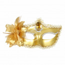 Karnevalsmaske gold Venezianische Augenmaske