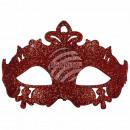 Maschera maschera carnevale carnevale corona rossa