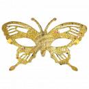 Maschera Maschera Carnevale Carnevale Farfalla oro
