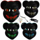 Tri EL masques LED masques d'horreur masques d