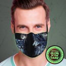 Ansiktsmask respirator ljuseffekt Glöd
