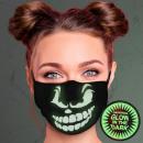Face mask respirator light effect Glow