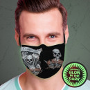 Ansiktsmask andningsskydd ljuseffekt Glöd