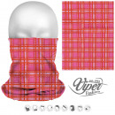 Multifunktionstuch - 9 in 1 - Tartan rosa, orange