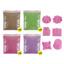 Magic Sand different colors 4 x 250g Packun