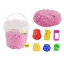 Magic Sand in the bucket pink with 6 Burg forms